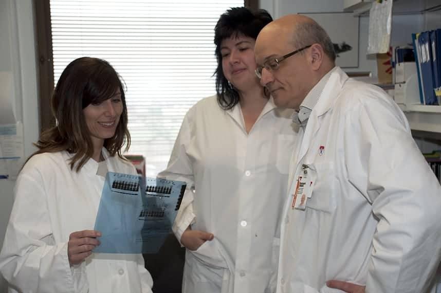 Dre Roxanne Larivière, Rébecca Gaudet and Dr Bernard Brais